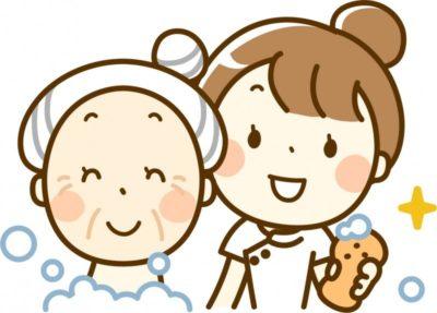 入浴介護をする介護福祉士