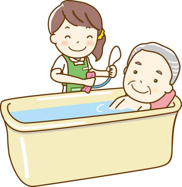 お風呂に入れる介護士