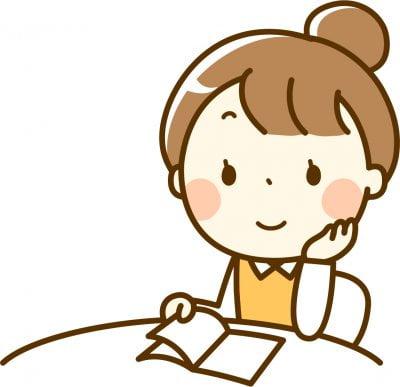 介護福祉士試験の受験勉強をする女性の画像